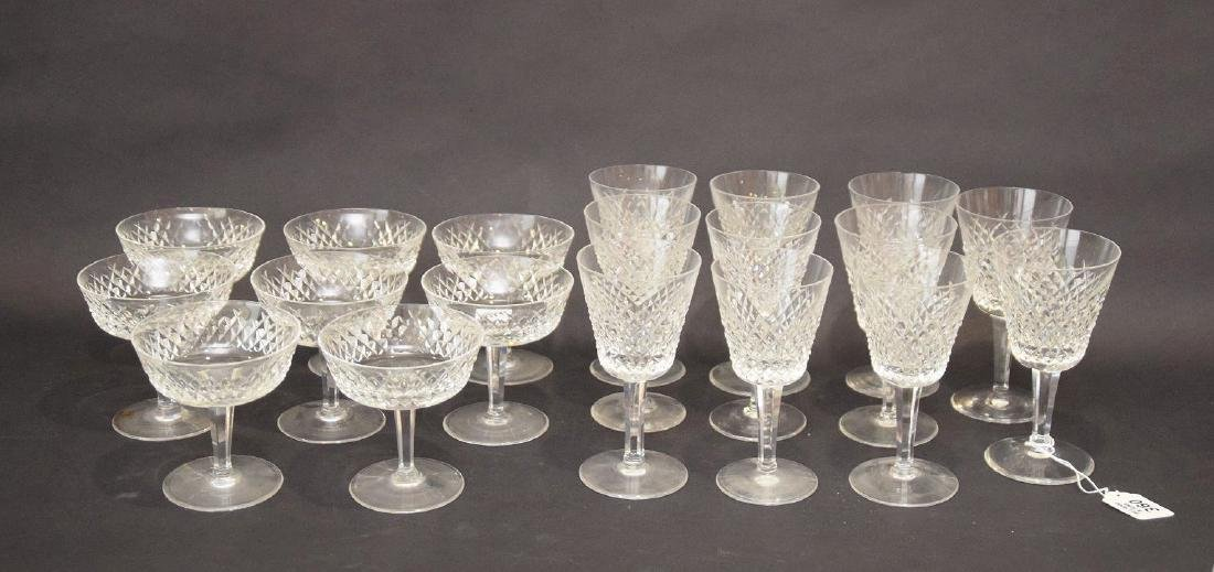19 pcs. Waterford stemware, 2 assorted sizes