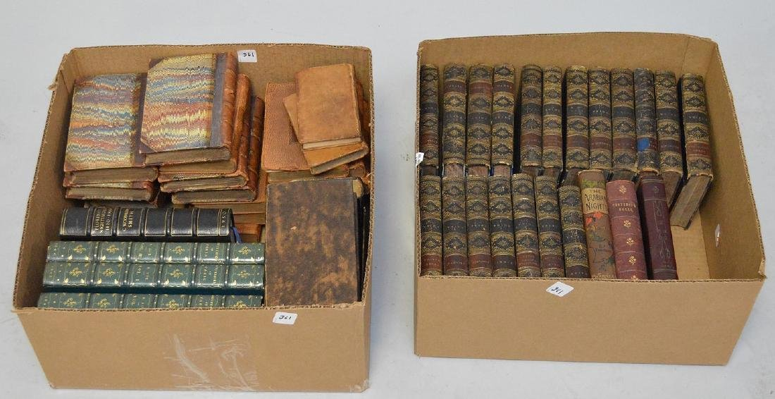 19 Volumes, Leather Bound, Ouida, 5 Volumes of British
