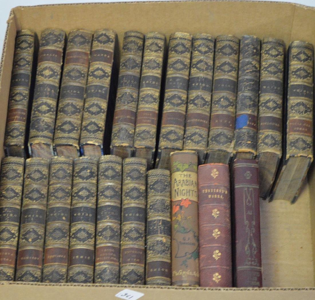 19 Volumes, Leather Bound, Ouida, 5 Volumes of British - 2