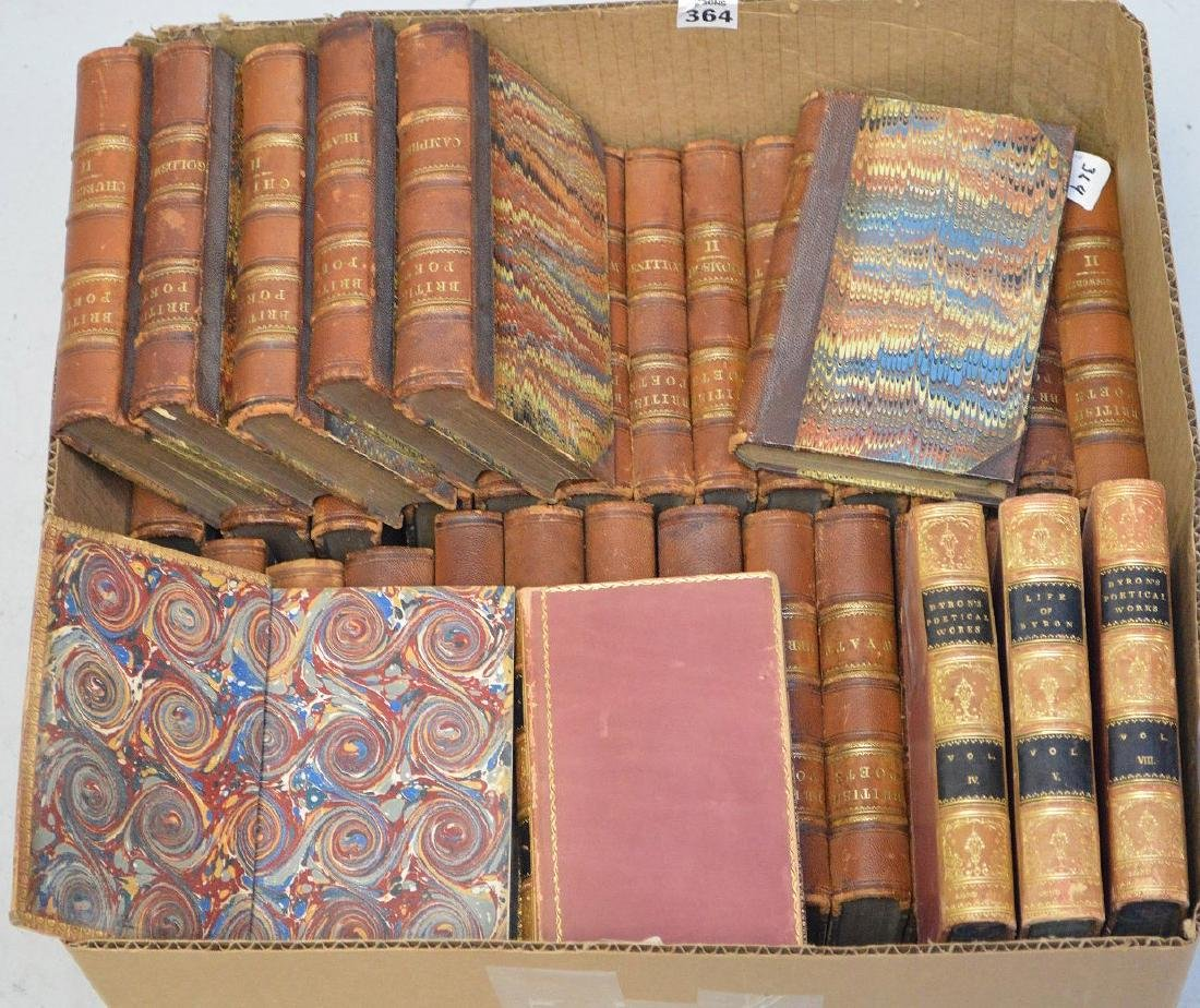 """2 sets of books; 33 Volumes of """"British Poetry"""", 5"""