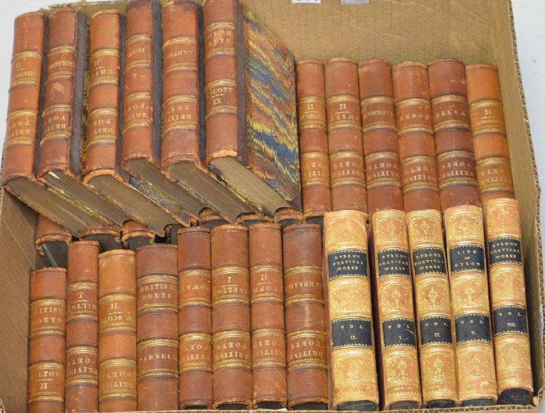 """2 sets of books; 33 Volumes of """"British Poetry"""", 5 - 2"""