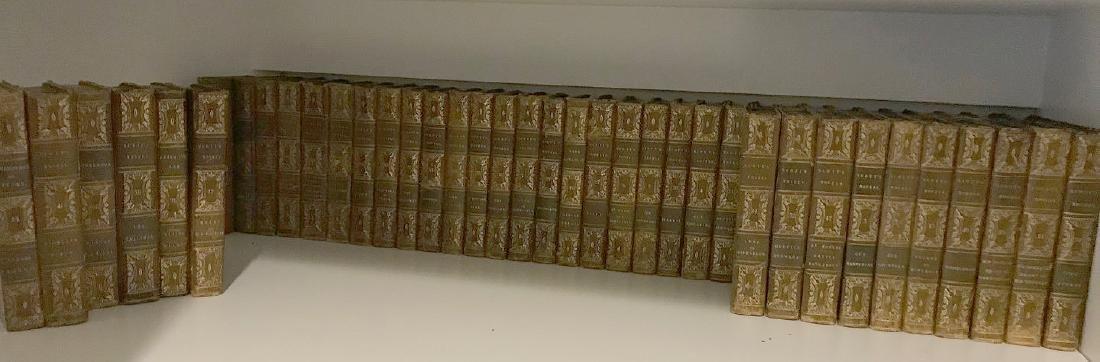 "2 sets of books; 40 Volumes of ""Scott's Novels"", 14"