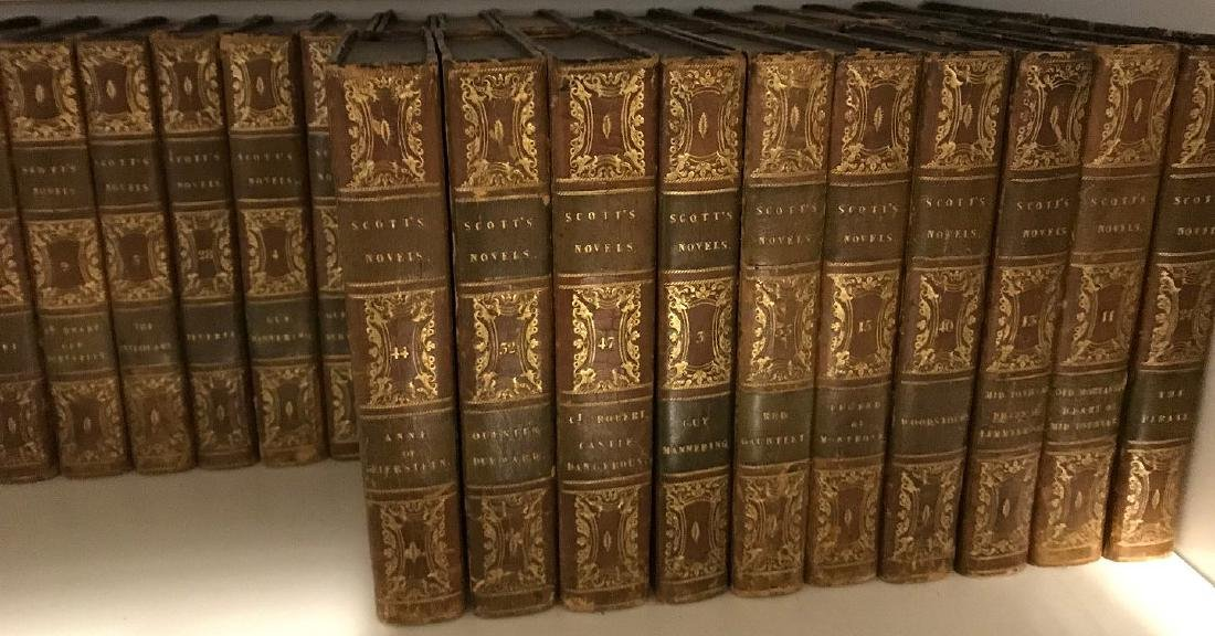 "2 sets of books; 40 Volumes of ""Scott's Novels"", 14 - 2"
