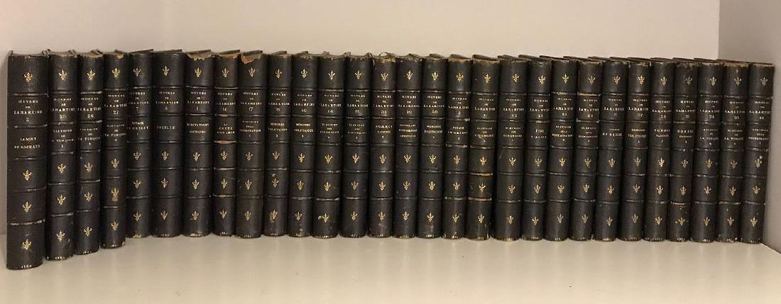 2 sets of books; 31 Volumes of Ceuvres De Lamartine