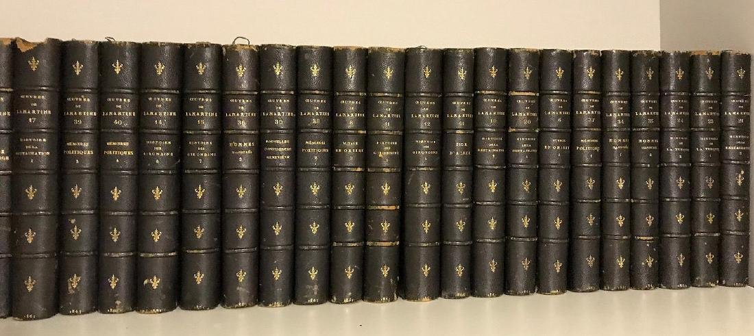2 sets of books; 31 Volumes of Ceuvres De Lamartine - 2