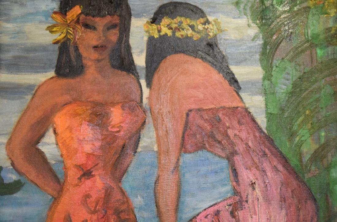 Serven, Tahitian girls, oil on canvas, 36 x 24 inches - 3