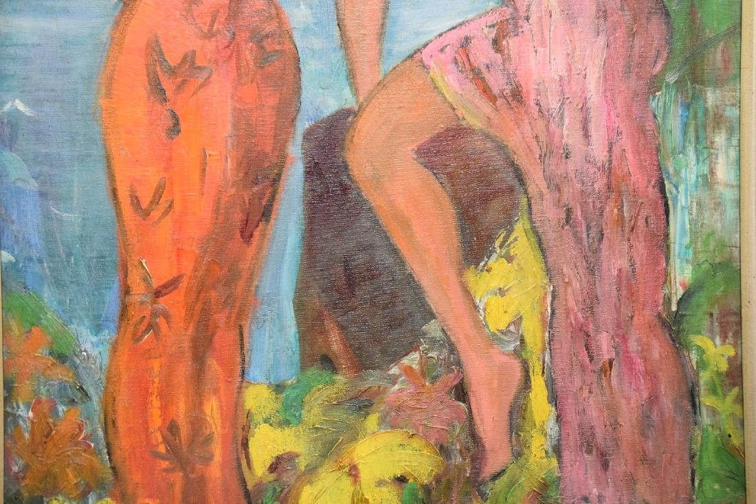 Serven, Tahitian girls, oil on canvas, 36 x 24 inches - 4