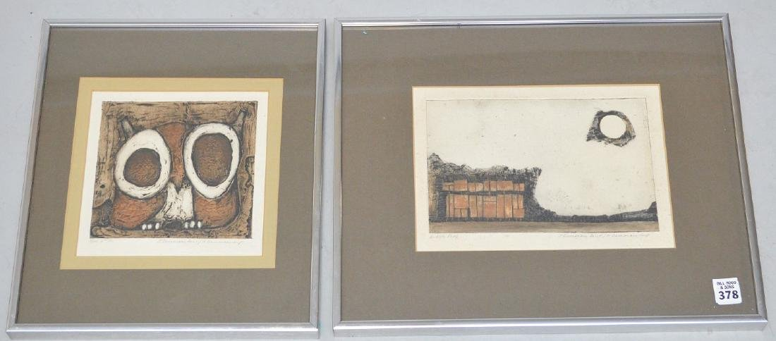 "Joseph Demarais, American 1927-1971 , Etchings (2) 7.5"" - 2"