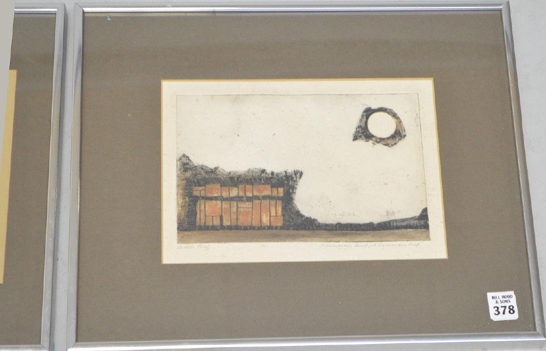 "Joseph Demarais, American 1927-1971 , Etchings (2) 7.5"" - 3"