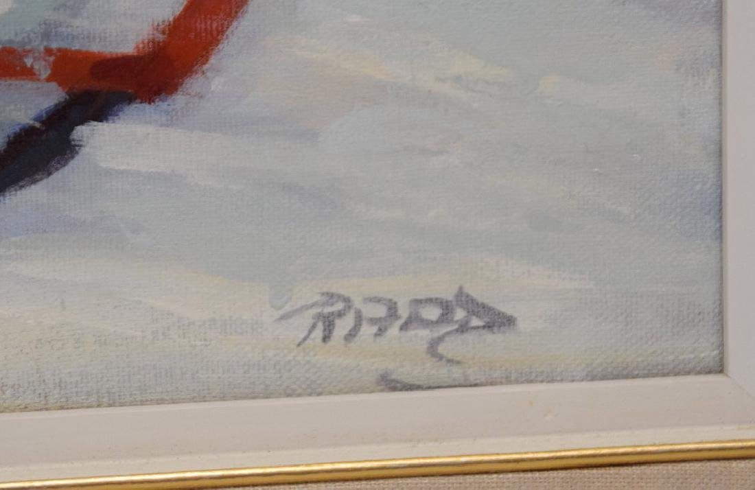 Lucelle Raad (Am. born 1942) oil on canvas, Girl on - 4