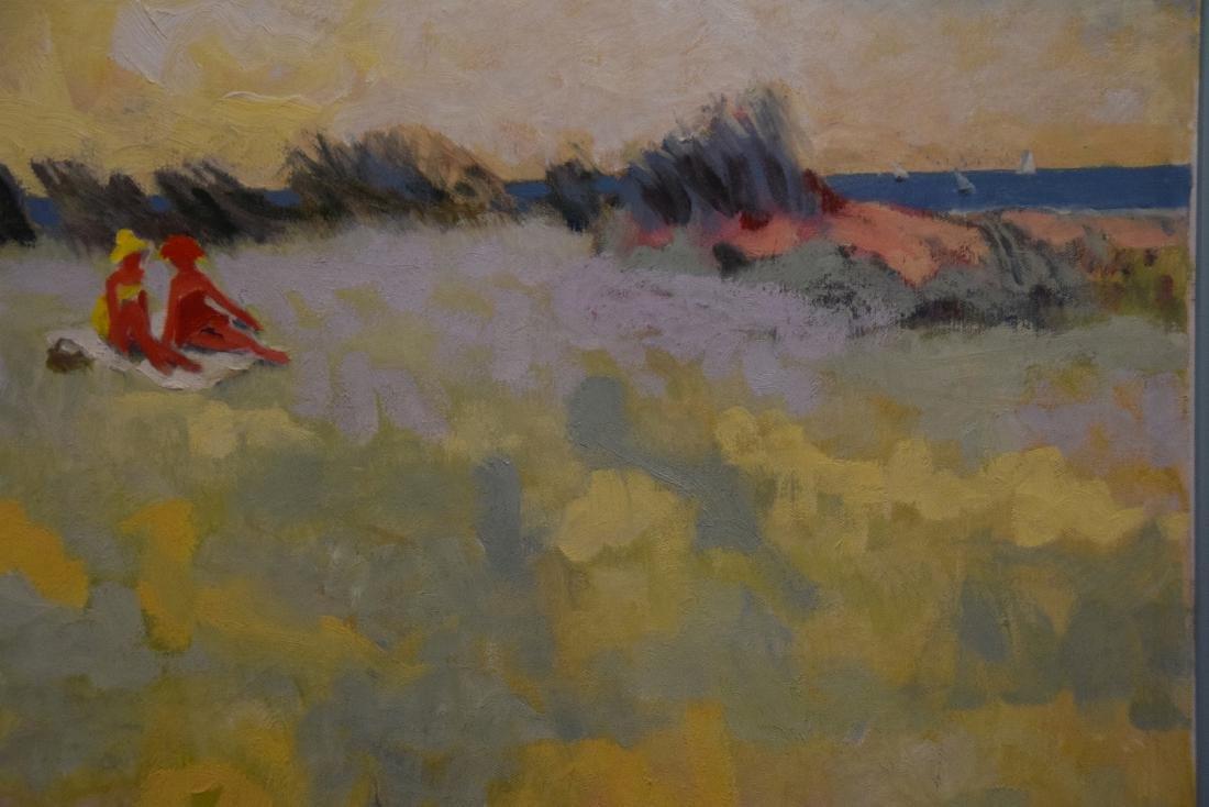 Am School oil on canvas, girls at the beach, 24 x 24 - 2