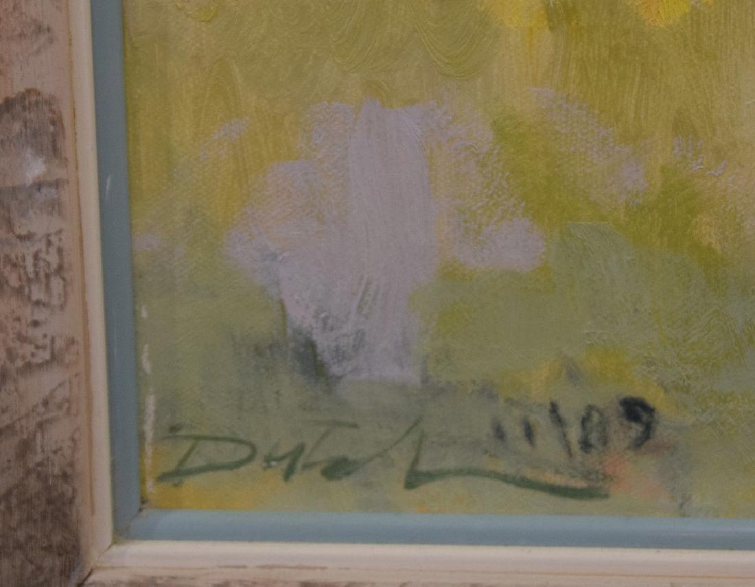 Am School oil on canvas, girls at the beach, 24 x 24 - 3