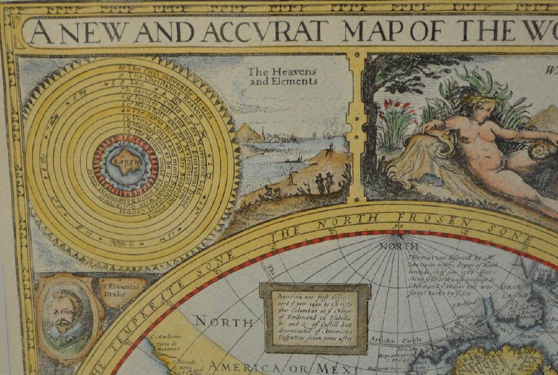 """Hand colored etching, """"A New and Accurate Map of the - 3"""