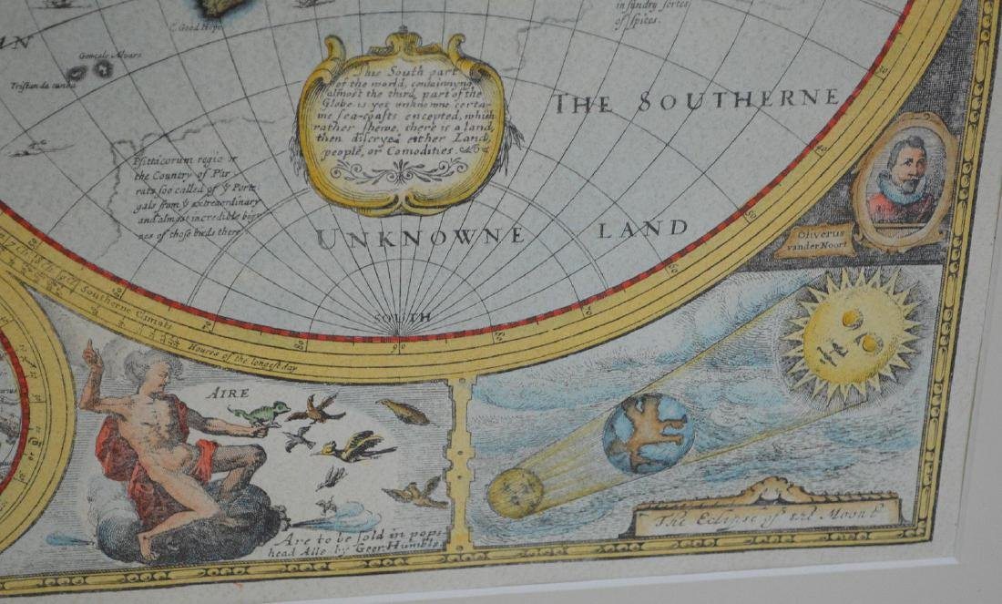 """Hand colored etching, """"A New and Accurate Map of the - 4"""