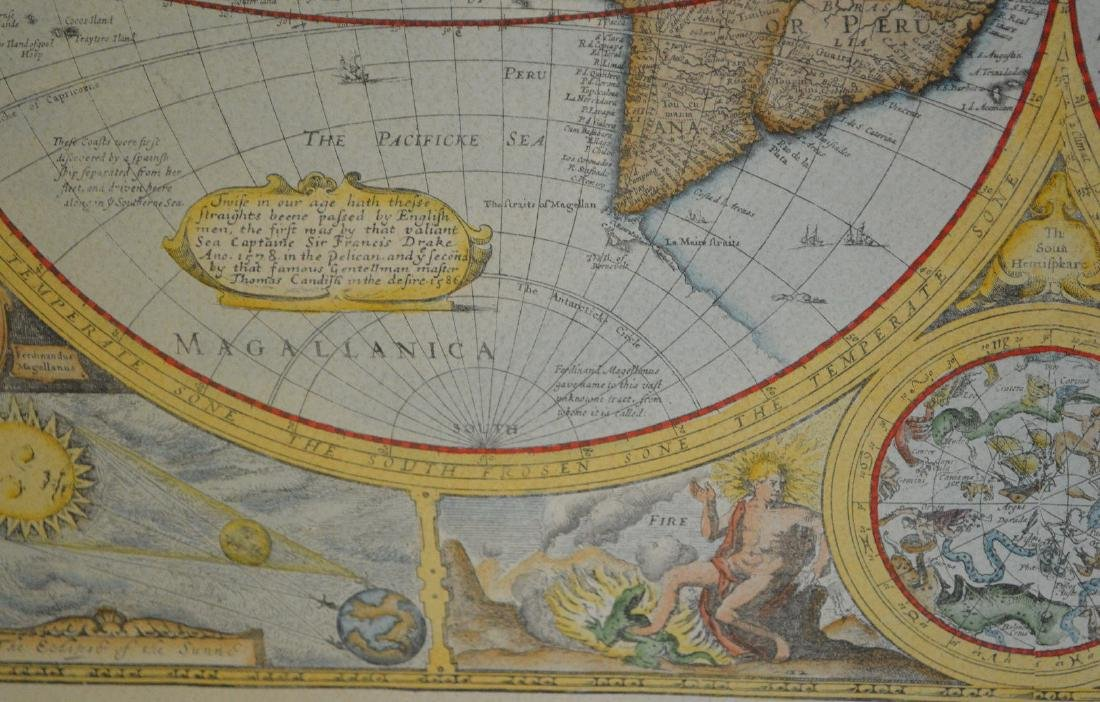 """Hand colored etching, """"A New and Accurate Map of the - 5"""