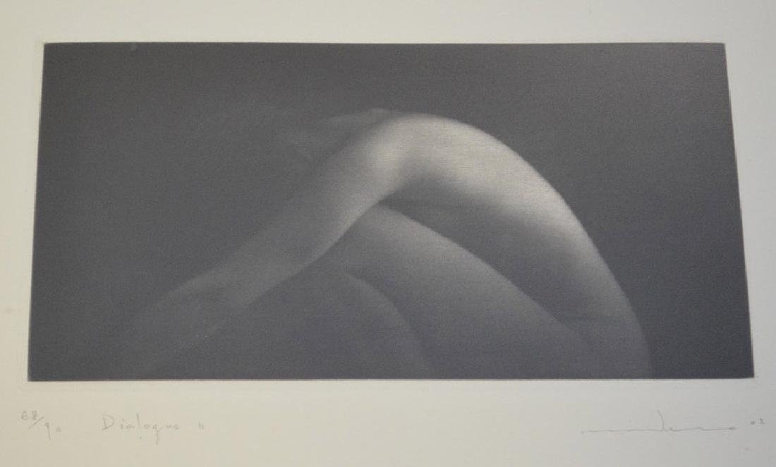 MIKIO WATANABE - 3 Nude framed pictures and Mezzotint - 6