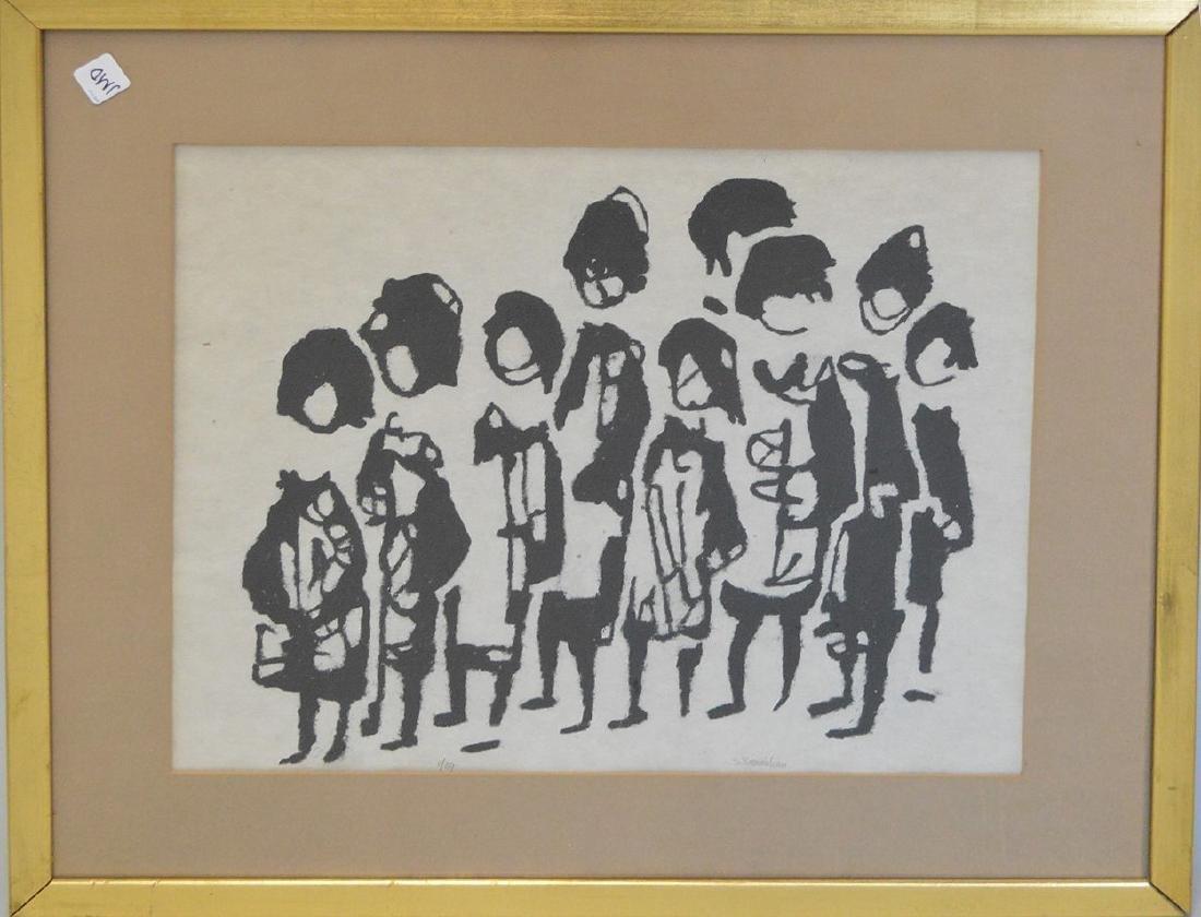 Sadie Skoletsky Rosenblum  (1899 - 1987) oil on paper,