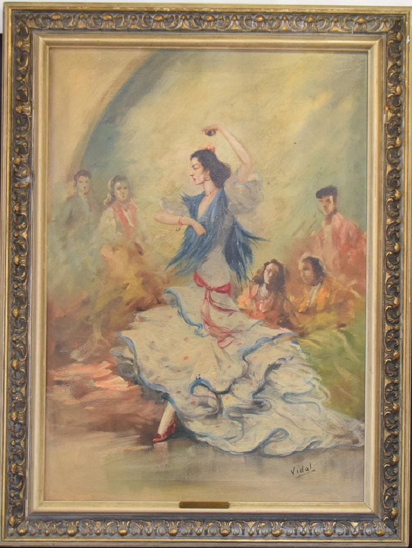 Flamenco dancer oil on canvas, 28 x 20 inches, signed