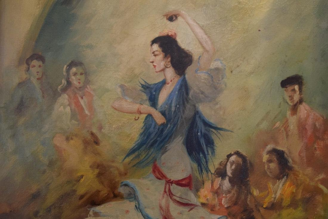 Flamenco dancer oil on canvas, 28 x 20 inches, signed - 2
