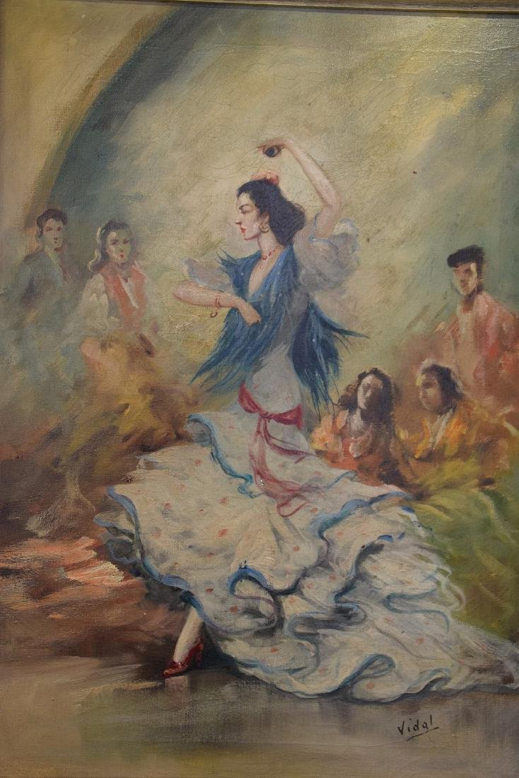 Flamenco dancer oil on canvas, 28 x 20 inches, signed - 4