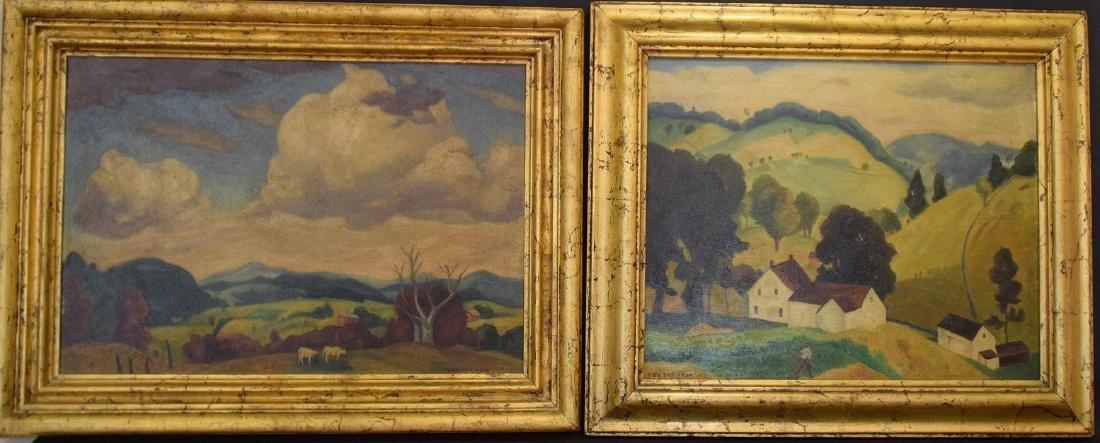 George Davidson  (Am. 1889 - 1965) Pair of Farm Scenes