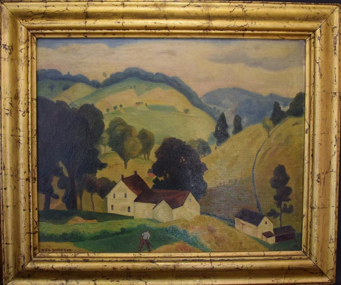 George Davidson  (Am. 1889 - 1965) Pair of Farm Scenes - 2
