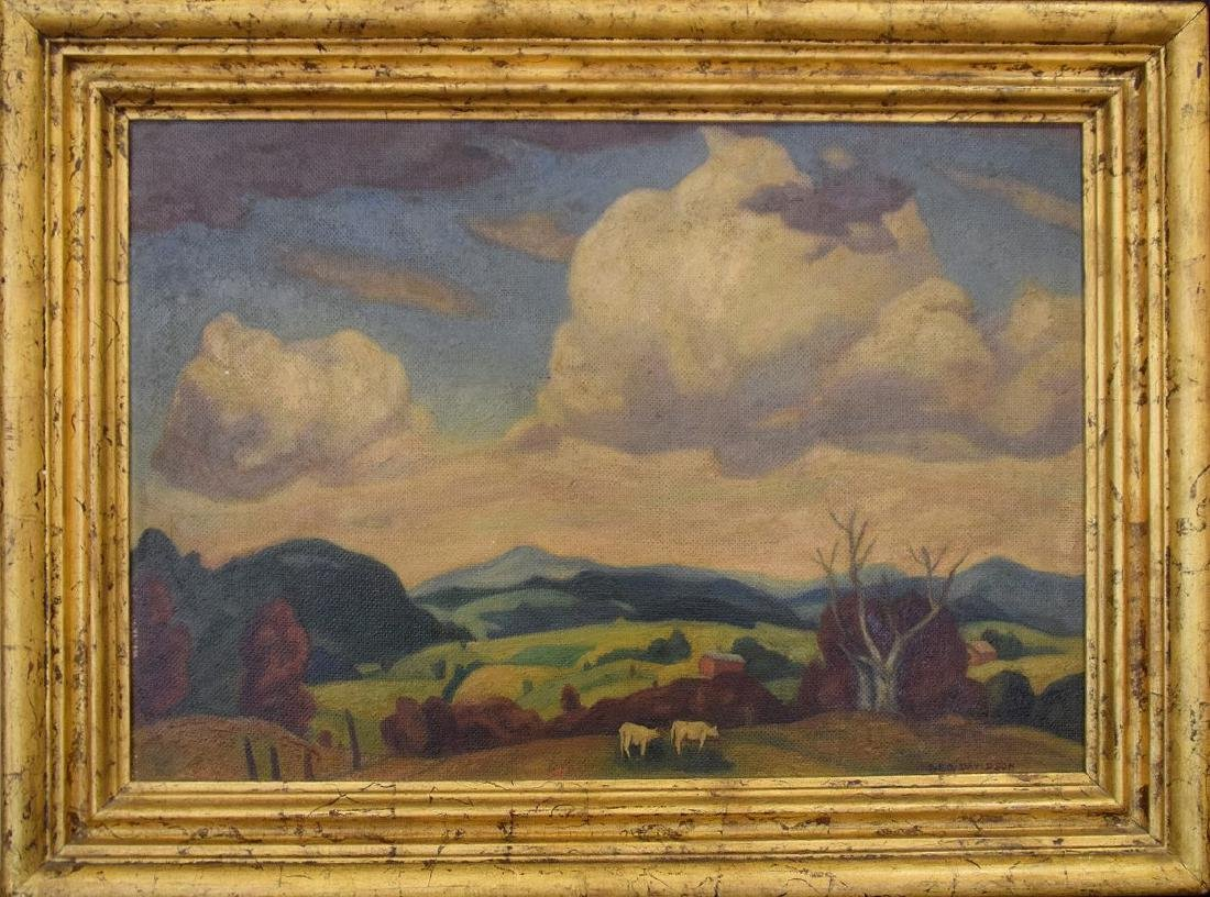 George Davidson  (Am. 1889 - 1965) Pair of Farm Scenes - 3
