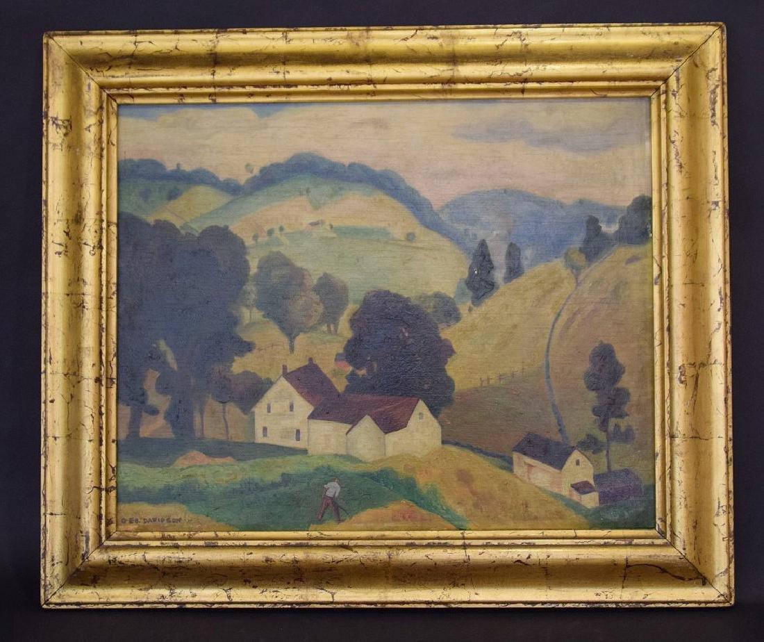 George Davidson  (Am. 1889 - 1965) Pair of Farm Scenes - 7