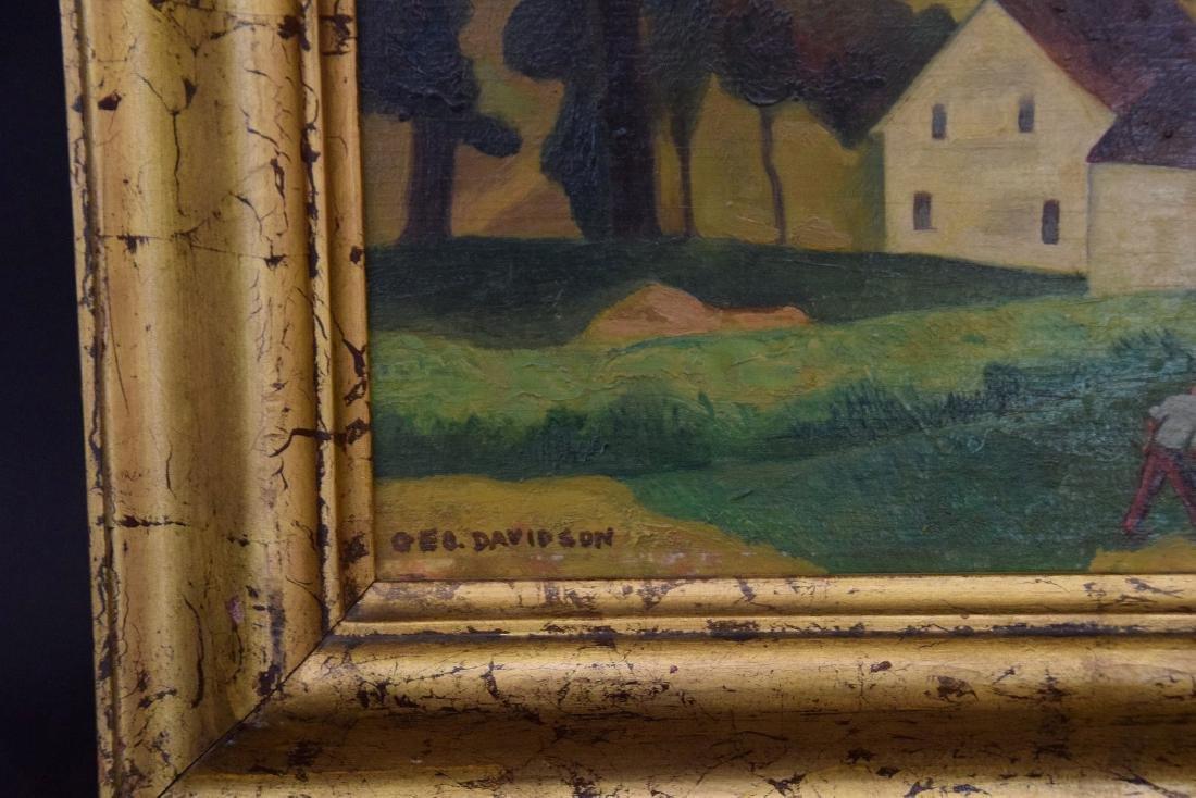 George Davidson  (Am. 1889 - 1965) Pair of Farm Scenes - 8
