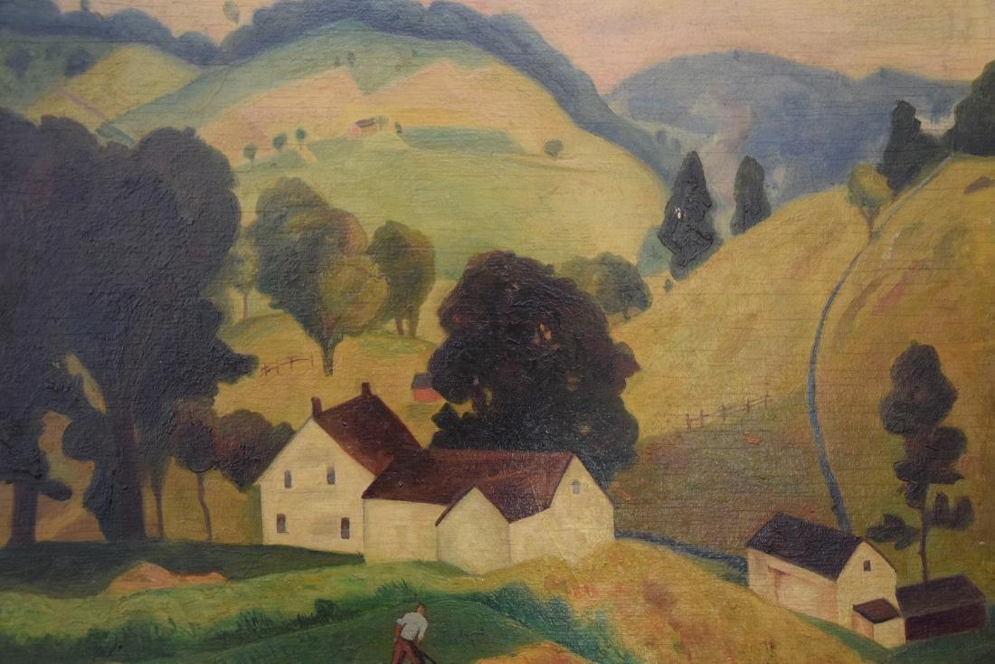 George Davidson  (Am. 1889 - 1965) Pair of Farm Scenes - 9