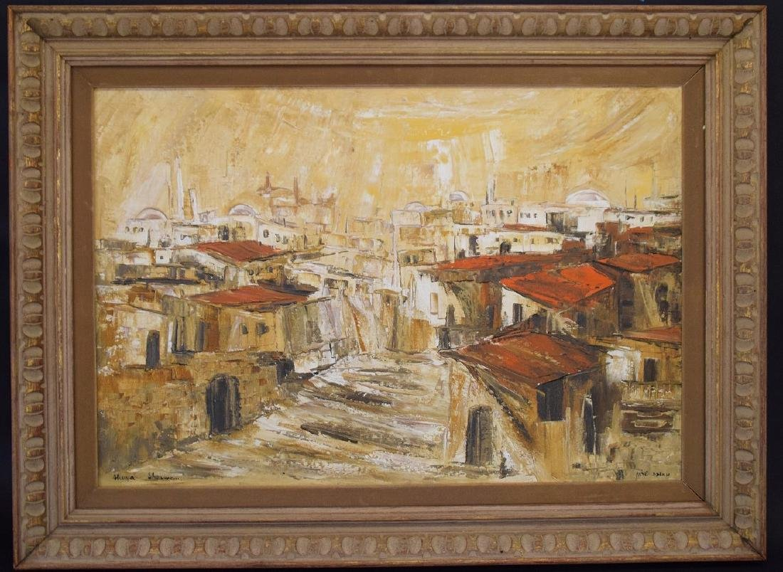 Ahuva Sherman (Israeli b.1923)  oil painting of the