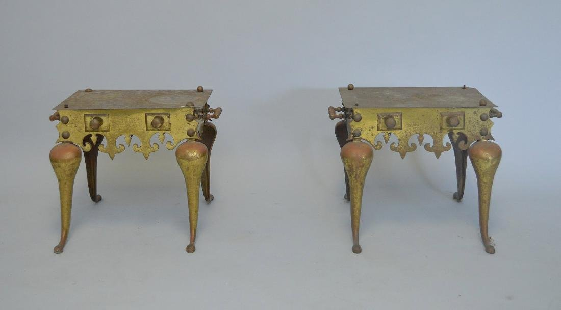 2 brass English trivets (as is)