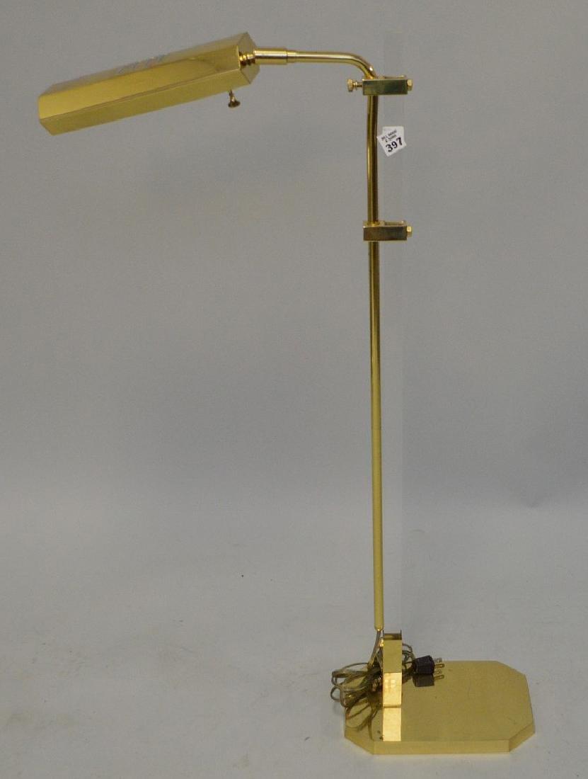 "Brass floor lamp, 35""h"