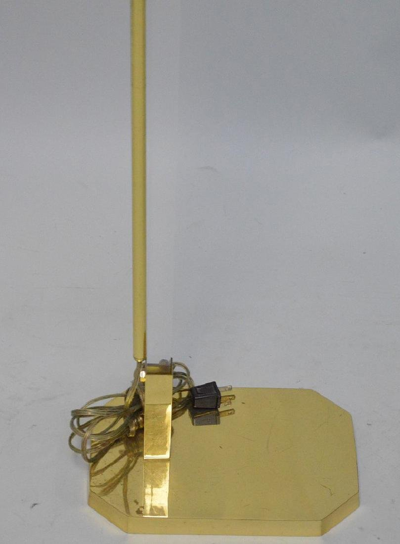 "Brass floor lamp, 35""h - 3"
