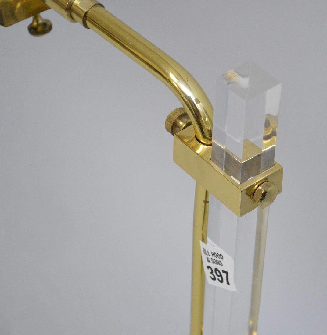 "Brass floor lamp, 35""h - 5"