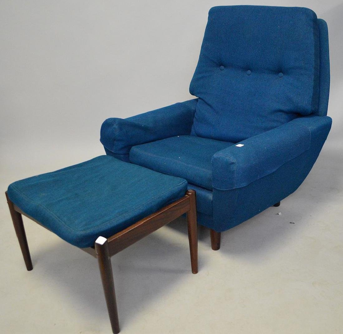 Mid century chair and ottoman, Made in Denmark, royal