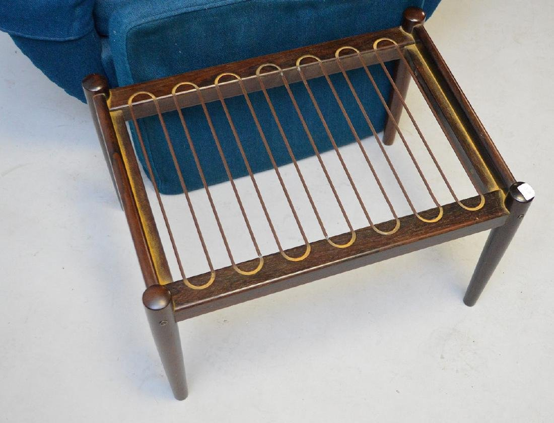 Mid century chair and ottoman, Made in Denmark, royal - 5