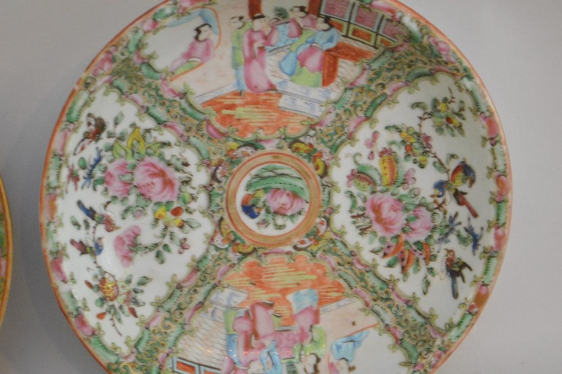 THREE CHINESE ROSE MEDALLION PORCELAIN ARTICLES - - 2