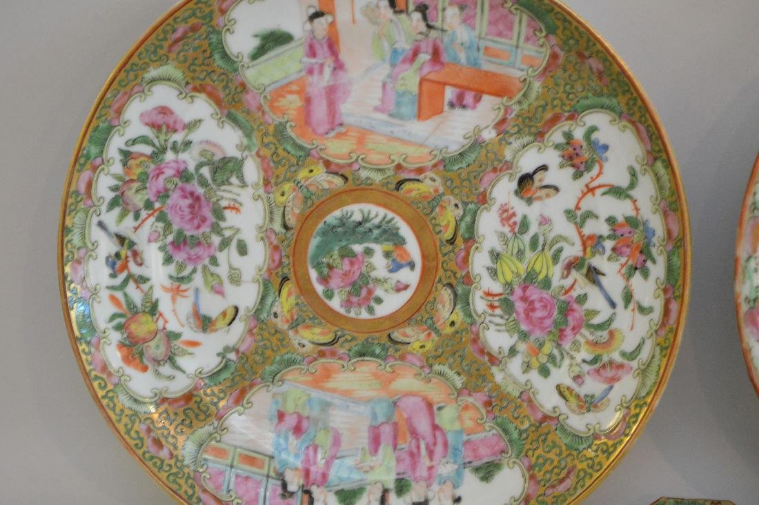 THREE CHINESE ROSE MEDALLION PORCELAIN ARTICLES - - 3