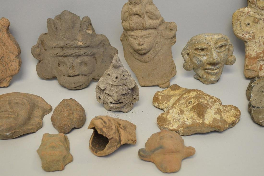 COLLECTION OF 17 PRE-COLUMBIAN EFFIGY ARTIFACTS - Each - 3