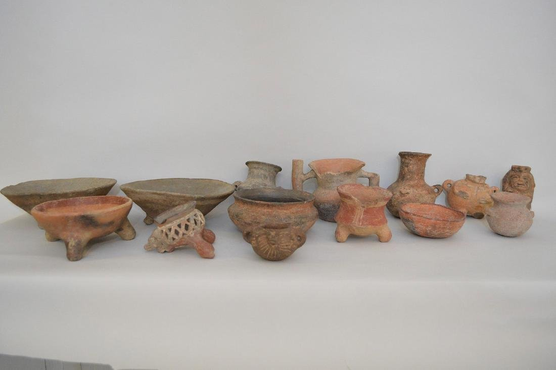 COLLECTION OF 14 PRE-COLUMBIAN ARTIFACTS - Includes: a
