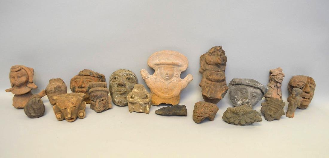 COLLECTION OF 18 PRE-COLUMBIAN EFFIGY ARTIFACTS - Each