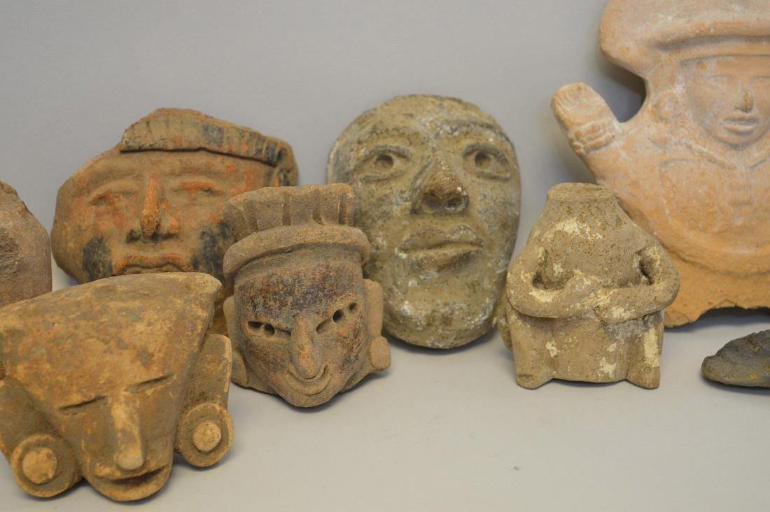 COLLECTION OF 18 PRE-COLUMBIAN EFFIGY ARTIFACTS - Each - 4