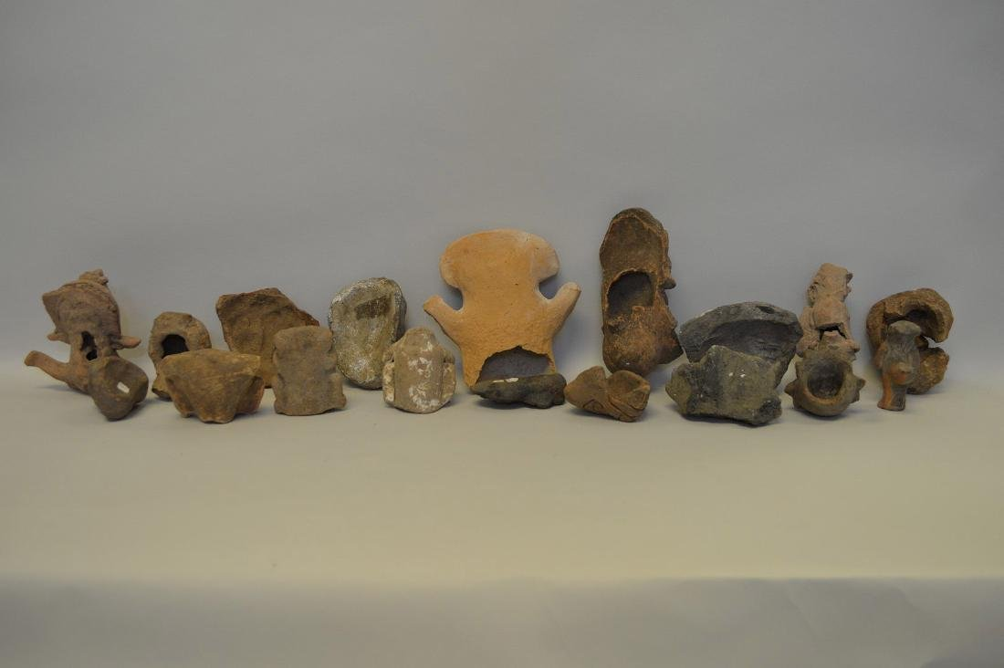 COLLECTION OF 18 PRE-COLUMBIAN EFFIGY ARTIFACTS - Each - 5
