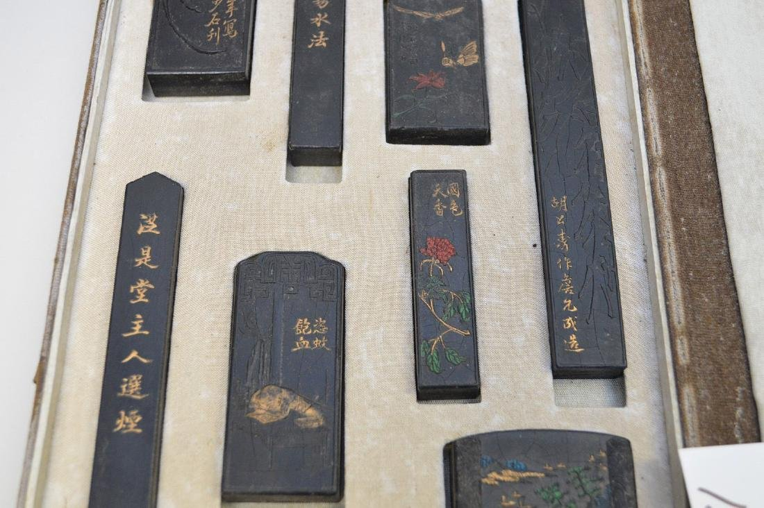 CHINESE CALLIGRAPHY STAMP SET WITH STONE PLAQUE BOOK - - 5