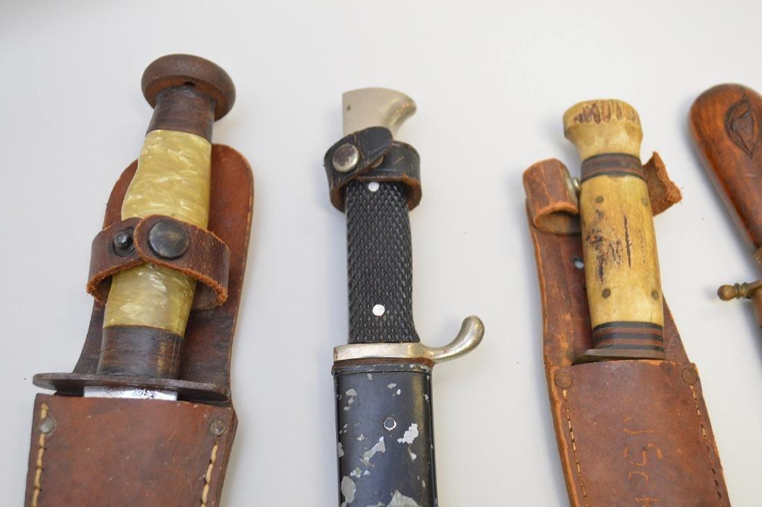 LOT OF FIVE VINTAGE & ANTIQUE KNIVES - Includes: a - 6