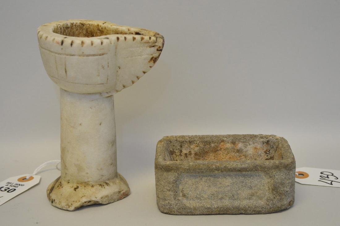 WO EARLY CHINESE RITUAL STONE ARTICLES - One is a