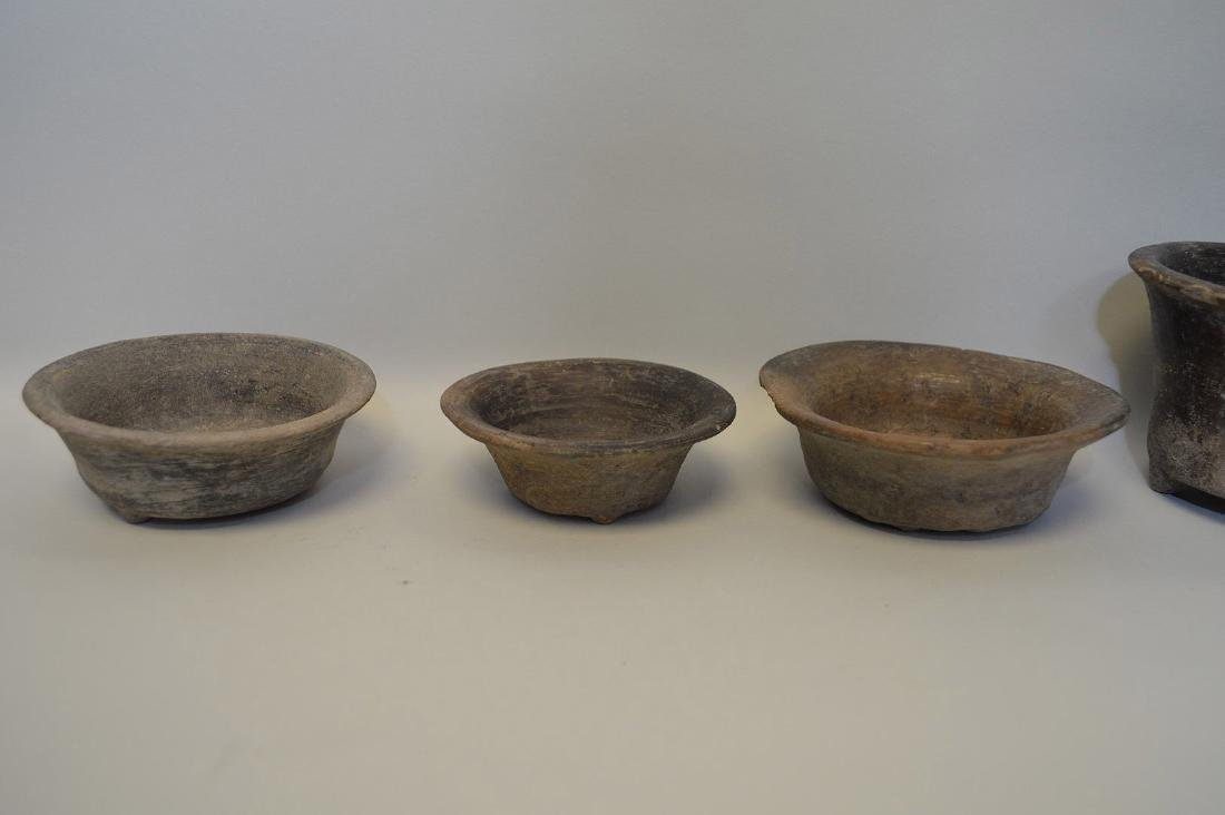 FIVE PRE-COLUMBIAN TEOTIHUACAN POTTERY VESSELS - Brown - 3