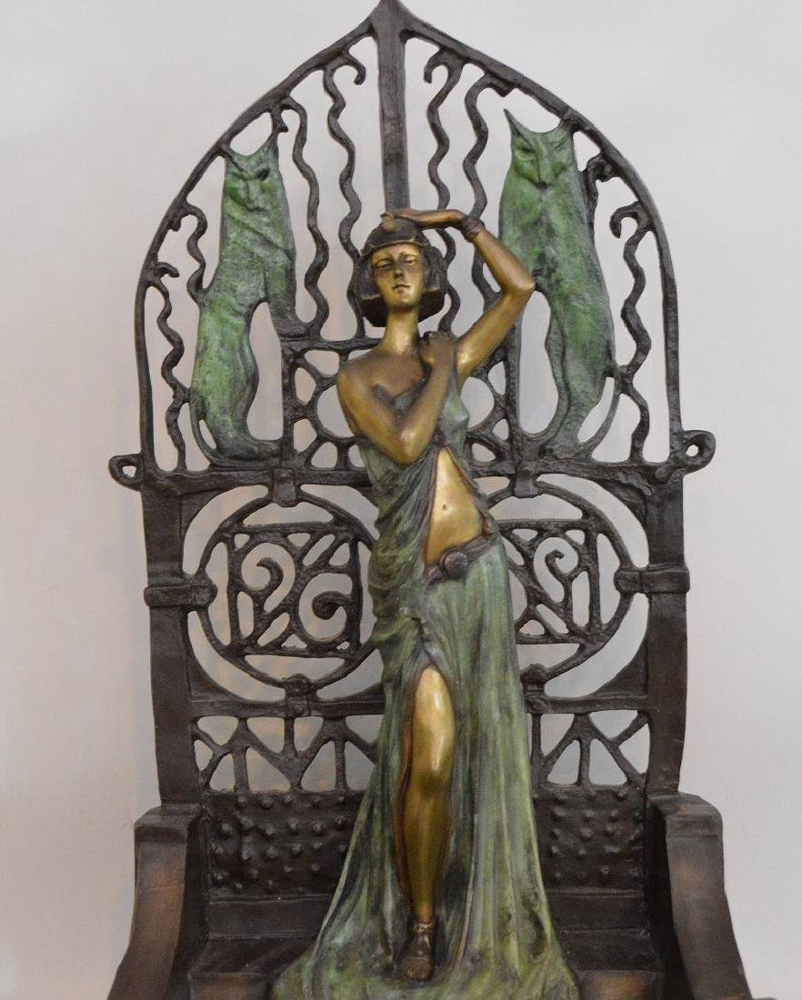 FIGURAL FRENCH PATINATED BRONZE SCULPTURE depicting a - 2