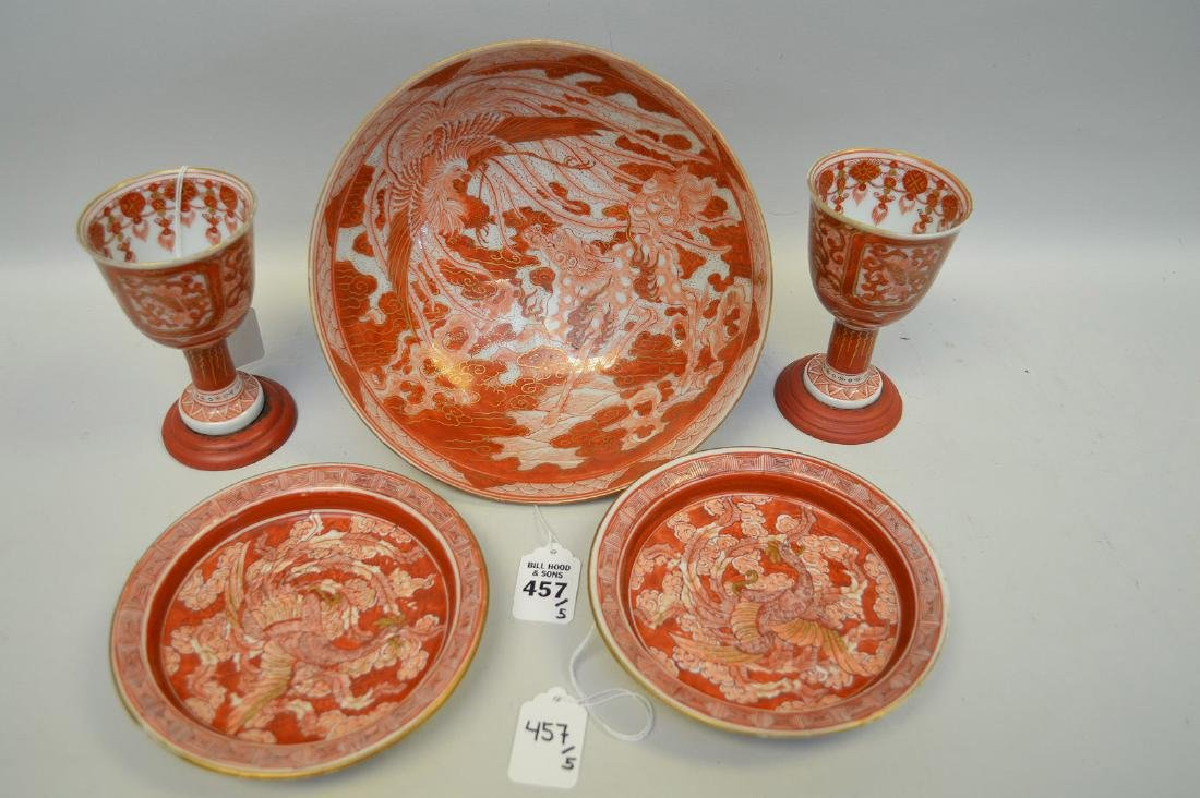 COLLECTION OF JAPANESE KUTANI PORCELAIN - Pedestal bowl